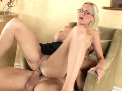 Horny Blonde In Glasses, Brandi Edwards, Sheds Her…